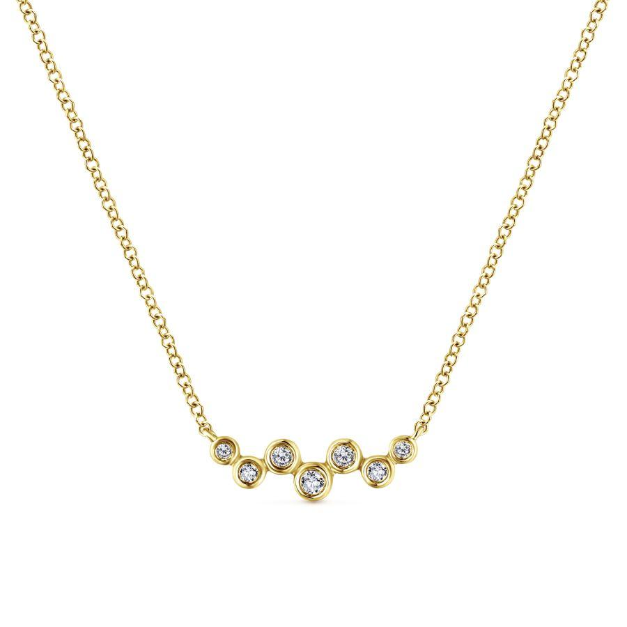 Gabriel & Co. Lusso Yellow Gold Necklace (0.08 CTW)