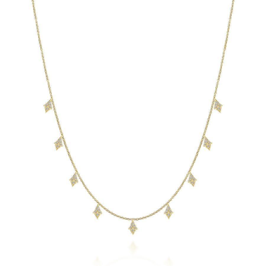 Gabriel & Co. Kaslique Yellow Gold Necklace (0.29 CTW)