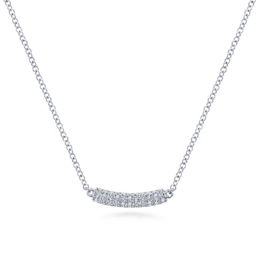 Gabriel & Co. Lusso White Gold Necklace (0.11 CTW)