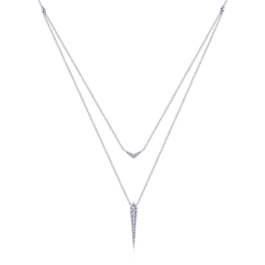 Gabriel & Co. Kaslique White Gold Necklace (0.23 CTW)