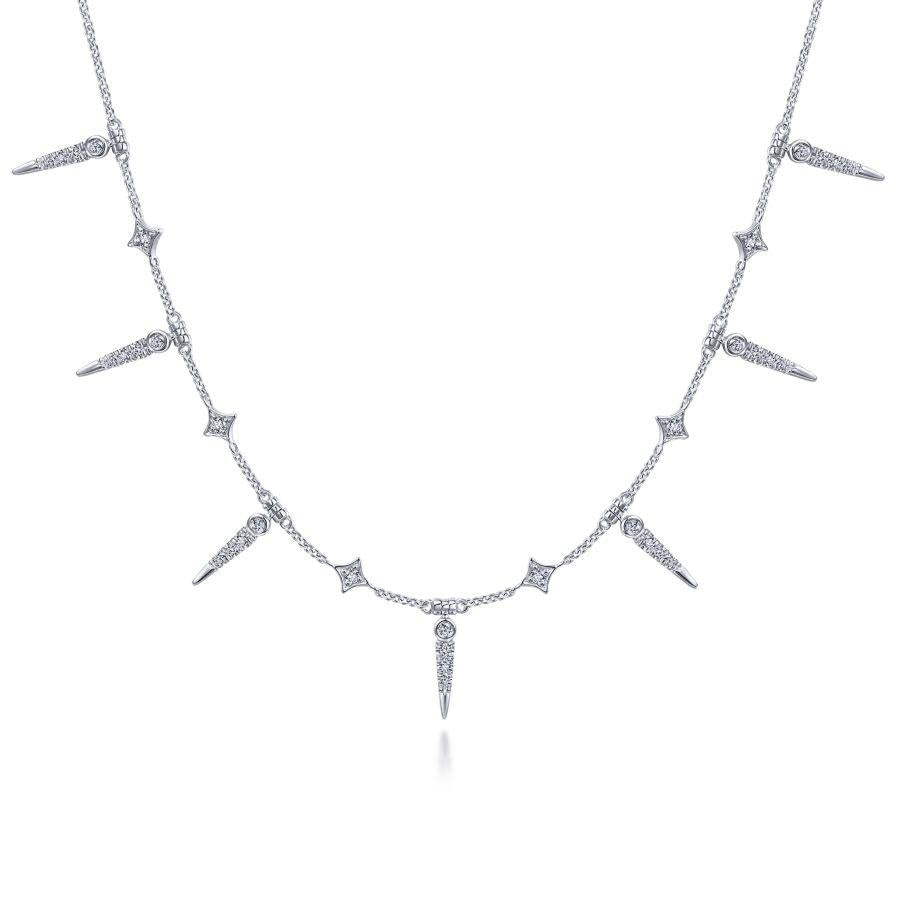 Gabriel & Co. Kaslique White Gold Necklace (0.26 CTW)