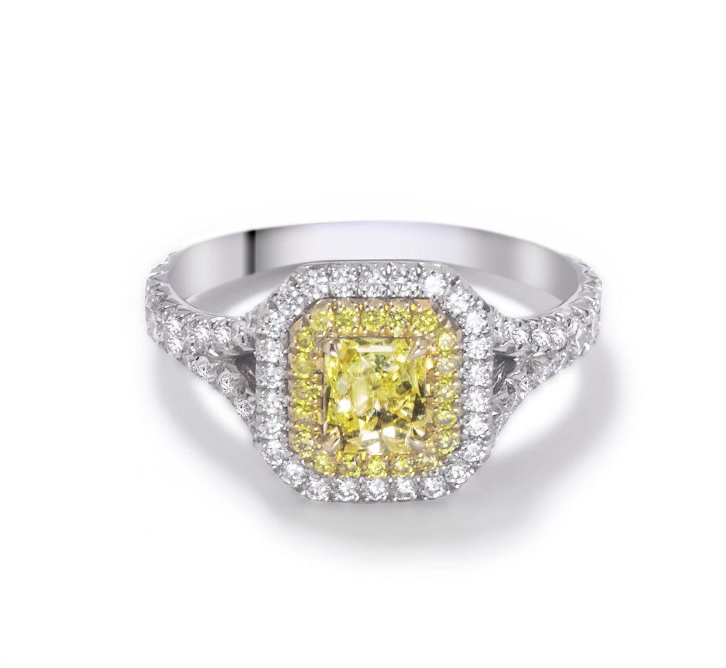 Forevermark Golden Diamonds Split Shank Ring