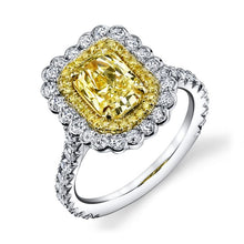 Load image into Gallery viewer, Forevermark Golden Diamonds Double Halo Engagement Ring