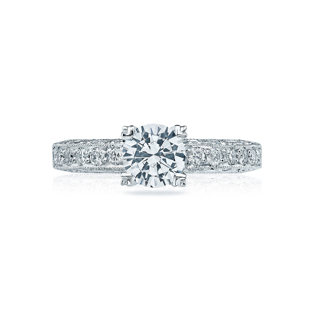Tacori Classic Crescent Round Diamond Engagement Ring (0.4 CTW)