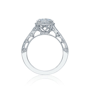 Tacori Reverse Crescent Round Diamond Engagement Ring (0.8 CTW)