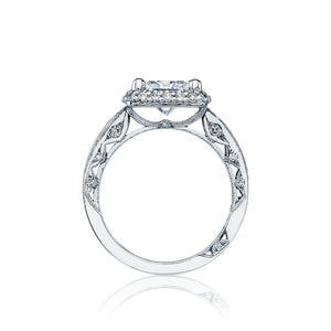 Tacori Blooming Beauties Princess Diamond Engagement Ring (0.69 CTW)