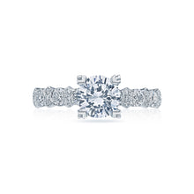 Load image into Gallery viewer, Tacori Classic Crescent Round Diamond Engagement Ring (0.78 CTW)
