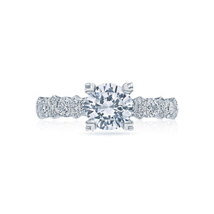Tacori Classic Crescent Round Diamond Engagement Ring (0.78 CTW)