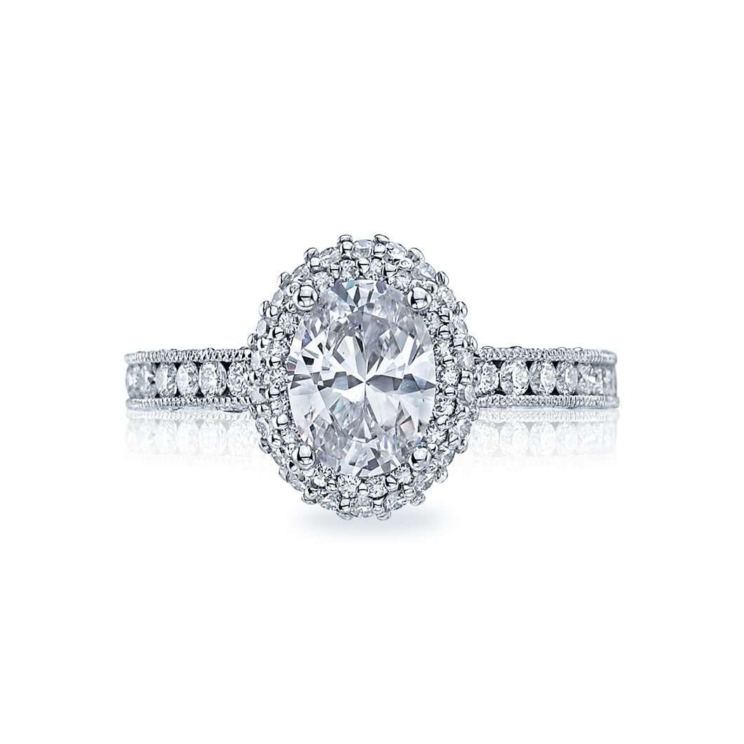 Tacori Blooming Beauties Oval Diamond Engagement Ring (0.69 CTW)