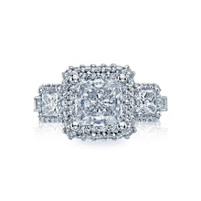 Load image into Gallery viewer, Tacori Blooming Beauties Princess Diamond Engagement Ring (1.54 CTW)