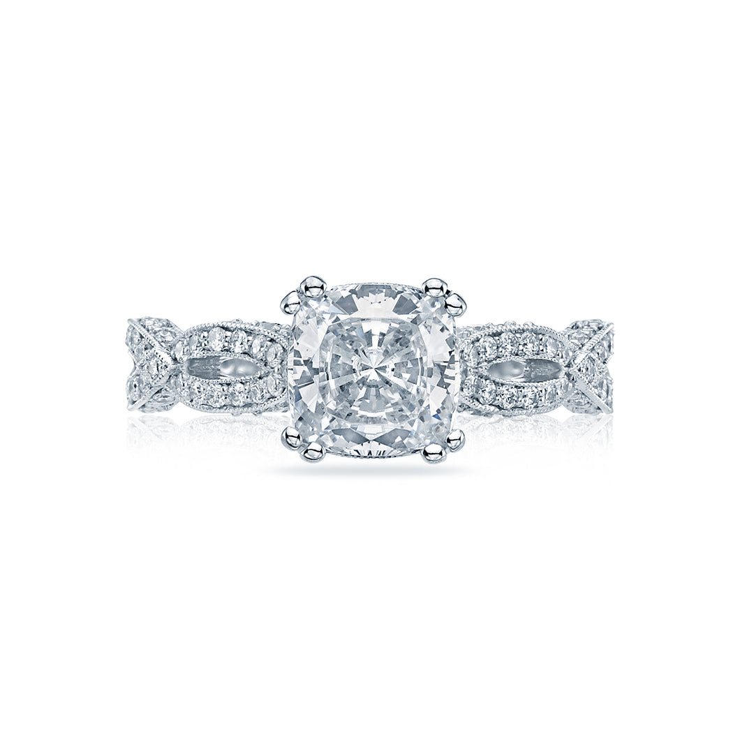 Tacori Ribbon Cushion Diamond Engagement Ring (0.36 CTW)