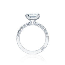 Load image into Gallery viewer, Tacori Petite Crescent Princess Diamond Engagement Ring (0.57 CTW)