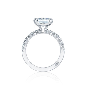 Tacori Petite Crescent Princess Diamond Engagement Ring (0.57 CTW)