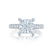 Load image into Gallery viewer, Tacori Petite Crescent Princess Diamond Engagement Ring (0.67 CTW)