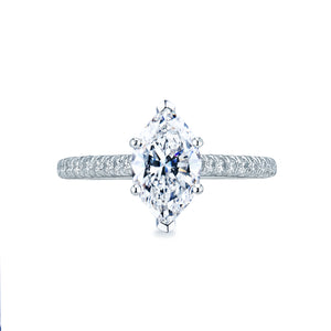 Tacori Petite Crescent Marquise Diamond Engagement Ring (0.43 CTW)