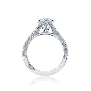Tacori Petite Crescent Round Diamond Engagement Ring (0.43 CTW)