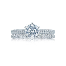 Load image into Gallery viewer, Tacori Petite Crescent Round Diamond Engagement Ring (0.43 CTW)