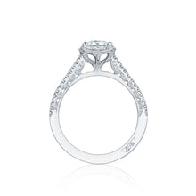 Load image into Gallery viewer, Tacori Petite Crescent Princess Diamond Engagement Ring (0.33 CTW)