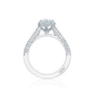 Tacori Petite Crescent Princess Diamond Engagement Ring (0.33 CTW)