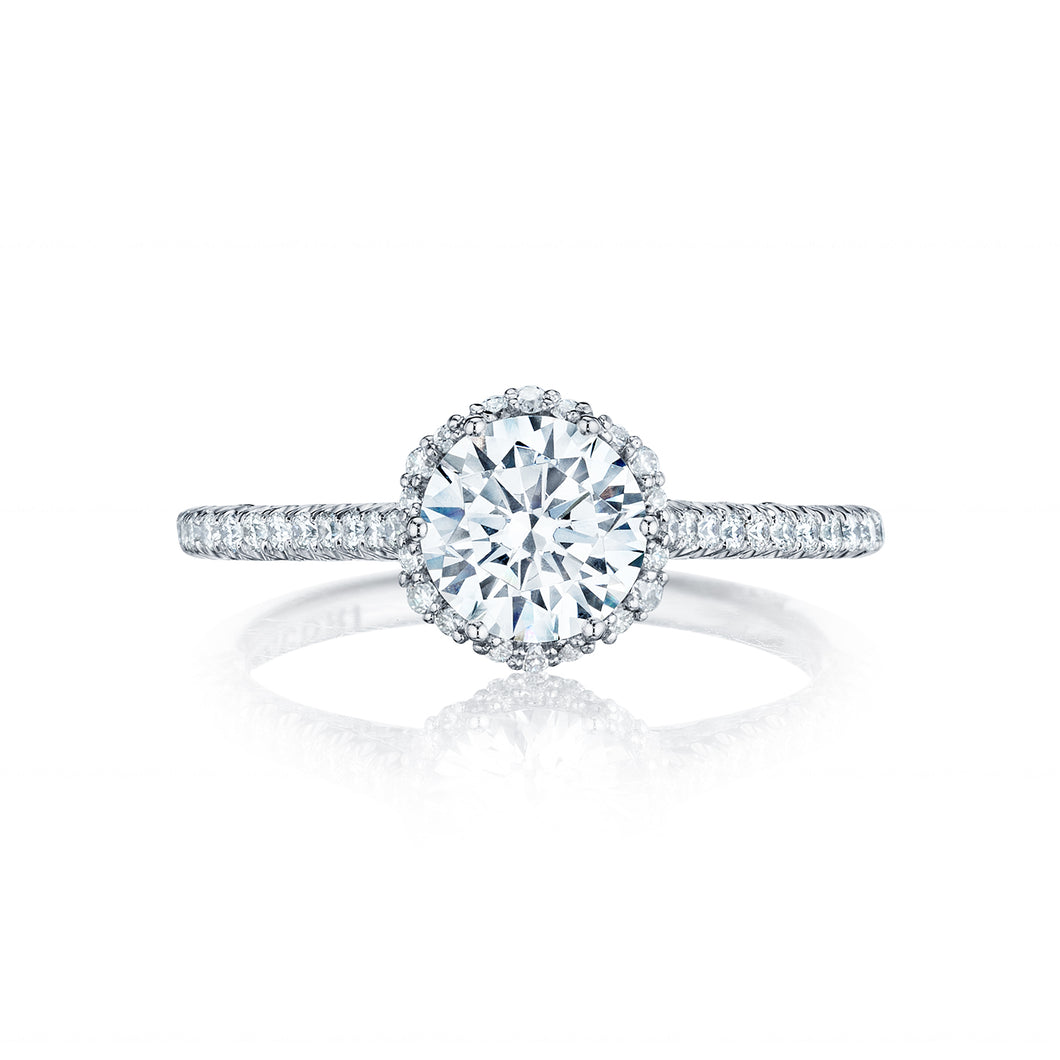 Tacori Petite Crescent Round Diamond Engagement Ring (0.33 CTW)