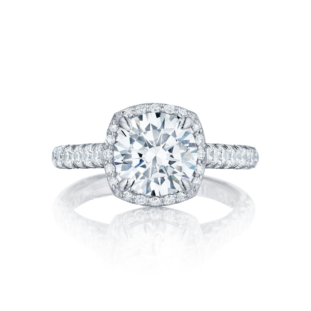 Tacori Petite Crescent Round Diamond Engagement Ring (0.78 CTW)