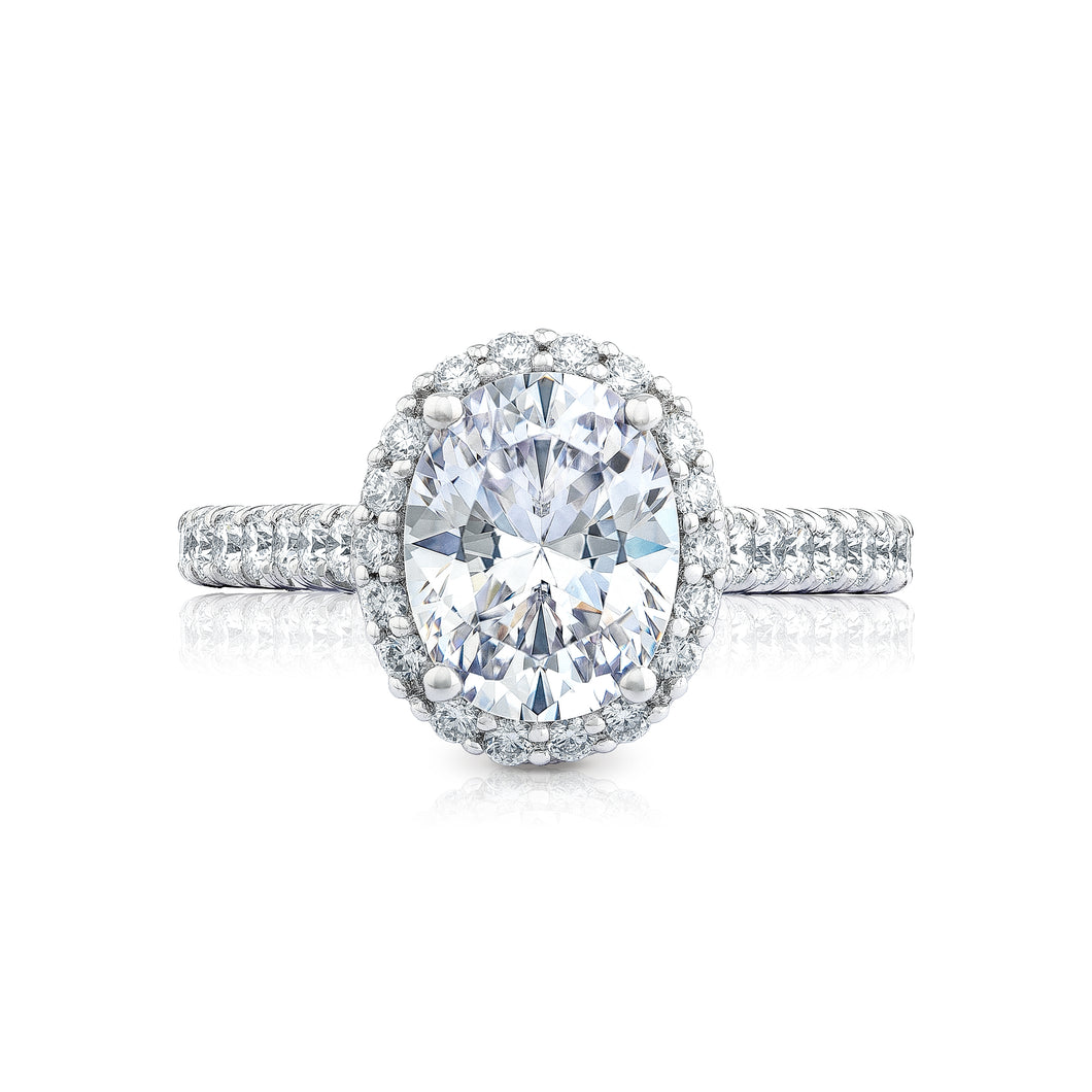 Tacori Petite Crescent Oval Diamond Engagement Ring (0.75 CTW)