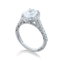 Load image into Gallery viewer, Tacori Petite Crescent Oval Diamond Engagement Ring (0.75 CTW)