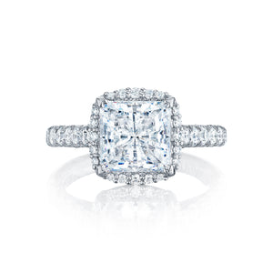 Tacori Petite Crescent Princess Diamond Engagement Ring (0.74 CTW)