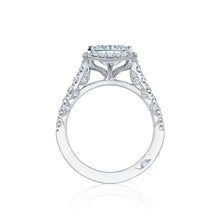 Load image into Gallery viewer, Tacori Petite Crescent Princess Diamond Engagement Ring (0.74 CTW)