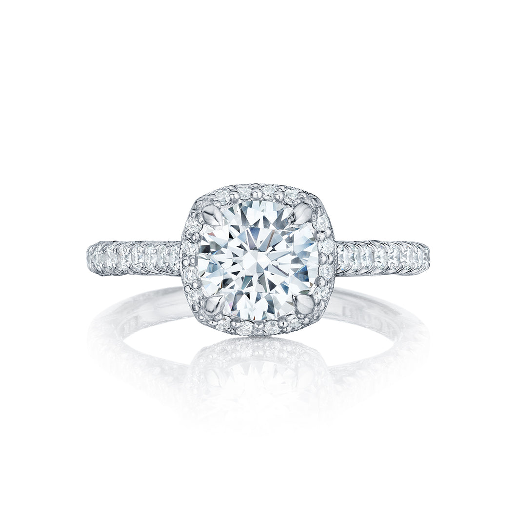 Tacori Petite Crescent Round Diamond Engagement Ring (0.55 CTW)
