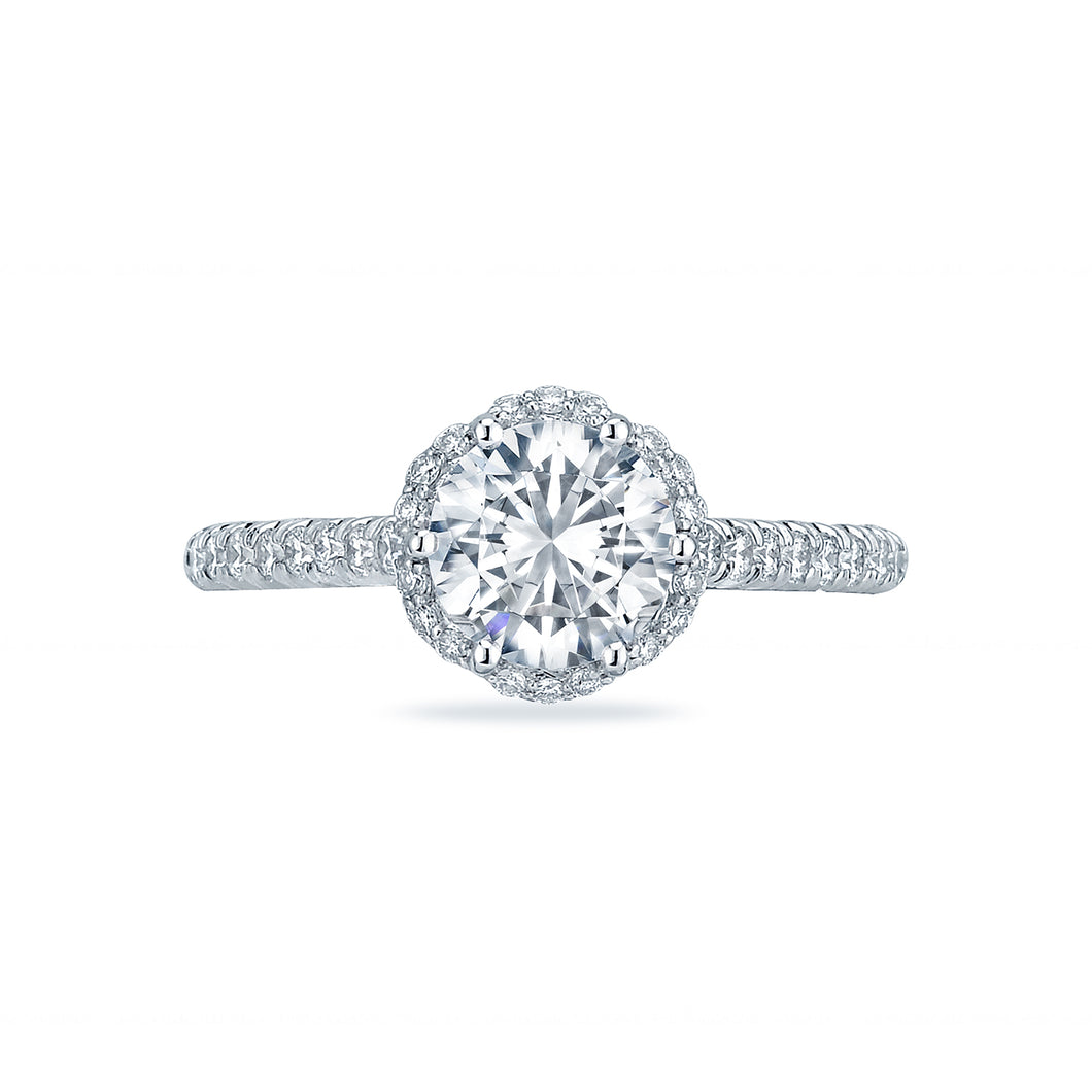 Tacori Petite Crescent Round Diamond Engagement Ring (0.5 CTW)