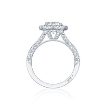 Load image into Gallery viewer, Tacori Petite Crescent Round Diamond Engagement Ring (0.84 CTW)