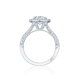 Tacori Petite Crescent Round Diamond Engagement Ring (0.84 CTW)