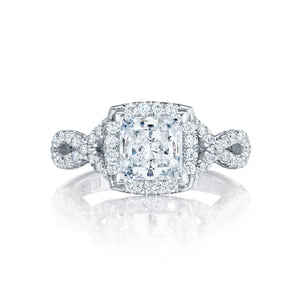 Tacori Petite Crescent Princess Diamond Engagement Ring (0.58 CTW)
