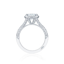 Load image into Gallery viewer, Tacori Petite Crescent Princess Diamond Engagement Ring (0.58 CTW)