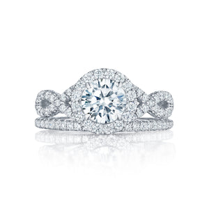 Tacori Petite Crescent Round Diamond Engagement Ring (0.6 CTW)