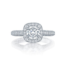 Load image into Gallery viewer, Tacori Classic Crescent Round Diamond Engagement Ring (0.79 CTW)