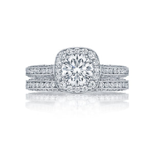 Tacori Classic Crescent Round Diamond Engagement Ring (0.79 CTW)