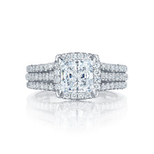 Load image into Gallery viewer, Tacori Petite Crescent Princess Diamond Engagement Ring (0.78 CTW)