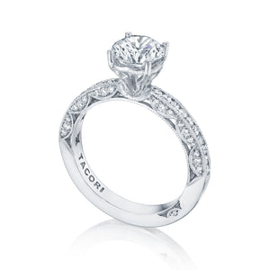Tacori Classic Crescent Round Diamond Engagement Ring (0.41 CTW)