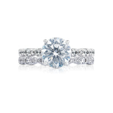 Load image into Gallery viewer, Tacori Petite Crescent Round Diamond Engagement Ring (0.39 CTW)