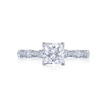 Load image into Gallery viewer, Tacori Petite Crescent Princess Diamond Engagement Ring (0.35 CTW)