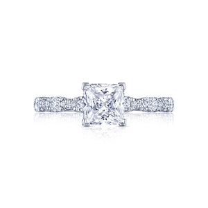 Tacori Petite Crescent Princess Diamond Engagement Ring (0.35 CTW)