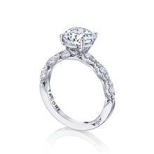 Load image into Gallery viewer, Tacori Petite Crescent Round Diamond Engagement Ring (0.35 CTW)