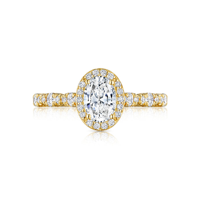 Tacori Petite Crescent Oval Diamond Engagement Ring (0.5 CTW)