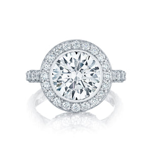 Tacori RoyalT Round Diamond Engagement Ring (1.58 CTW)