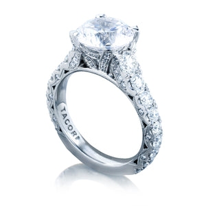 Tacori RoyalT Round Diamond Engagement Ring (1.65 CTW)