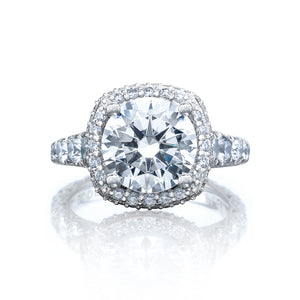 Tacori RoyalT Round Diamond Engagement Ring (2.01 CTW)