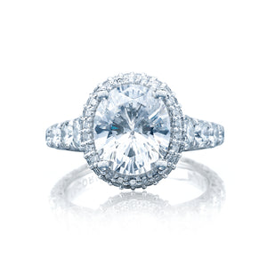 Tacori RoyalT Oval Diamond Engagement Ring (1.96 CTW)