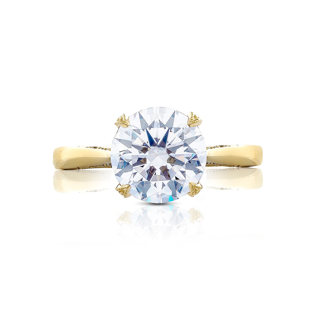 Tacori RoyalT Round Diamond Engagement Ring (0.22 CTW)